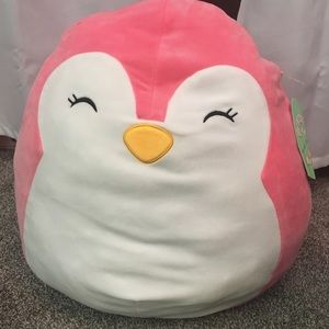 16in squishmallow pink penguin piper with tags